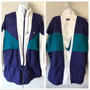 Vintage Nike windbreaker 80's Blue Teal White